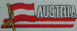Austria Embroidered Flag Patch, style 01.